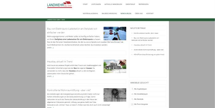 Blog - Landwehr Bau