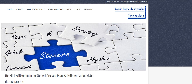 Die Neue Website Des Steuerbüros Monika Hübner-Laubmeister Ist Online