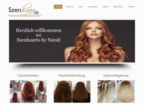 Die Neue Website Des Friseursalon Szenhaario-by-Natali Ist Online