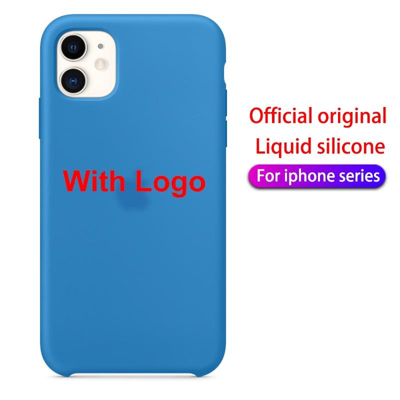 Mit-LOGO-Offizielle-Silikon-Fall-F-r-iphone-7-8-6S-6-Plus-11-Pro-X